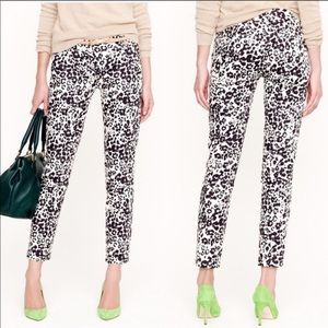 NWT J. Crew Favorite Fit Cheetah Print Pants. Sz 8